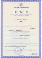 License for transportation in Lithuania